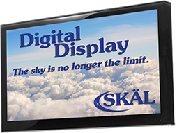 digital display header sales info